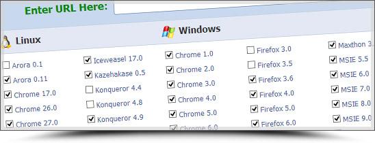 Browsershots pour tester son site sur tous les navigateurs