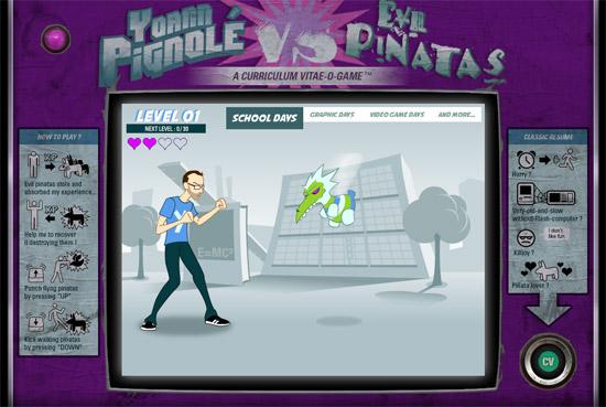 Curriculum vitae interactif de Yoann Pignolé