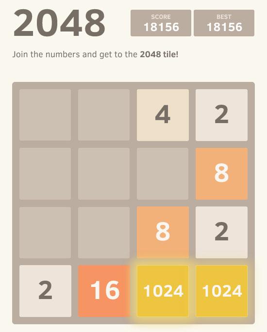 Terminer le jeu 2048