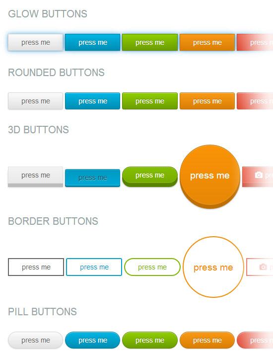 Exemples de boutons en css