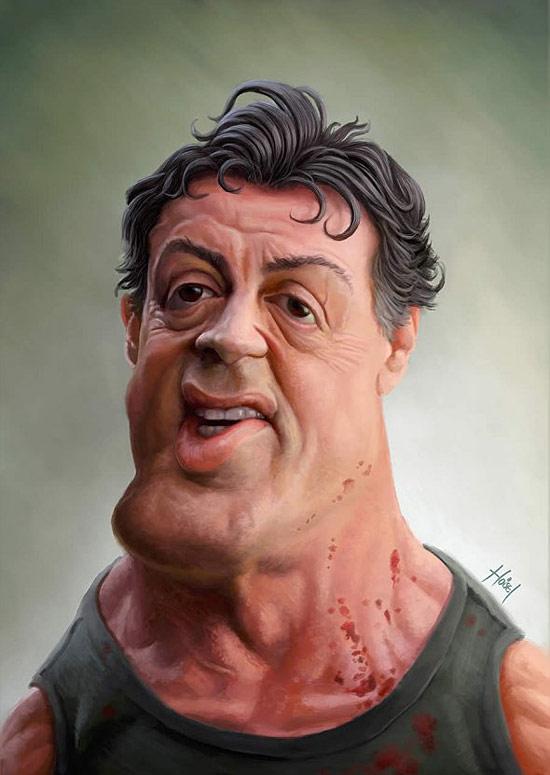 Stallone (Rambo) par Tiago Hoisel