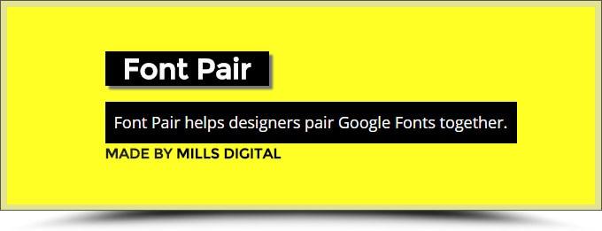 Font Pair : harmoniser les typographies